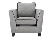 Wolseley Armchair, Wolf Grey Wool Mix