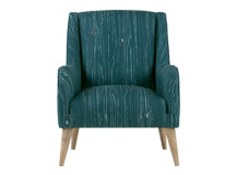 Woody Armchair, Woodgrain Teal
