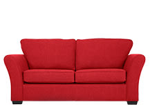 Preston 2 Seater Sofa, Red