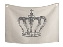Relic Large Wall Hanging, 140cm x 100cm, Crown, by Jimmie Martin