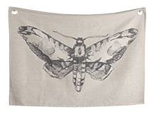 Relic Large Wall Hanging, 140cm x 100cm, Moth, by Jimmie Martin