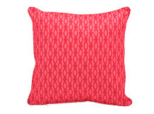 Lulu Square Cushion 50 x 50cm, Raspberry and Coral