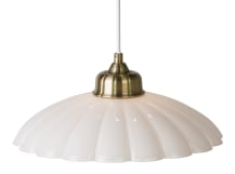Audrey Pendant Light, White and Brass