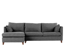 Bari Left Hand Facing Corner Storage Sofa Bed With Memory Foam Mattress, Malva Graphite