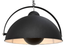 Chicago Pendant Light, Black and Silver