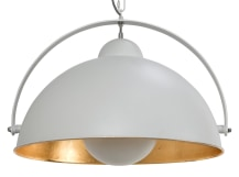 Chicago Pendant Light, Muted Grey and Brass