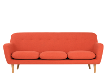 Dylan 3 Seater Sofa, Retro Orange