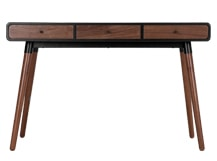 Edelweiss Desk, Walnut and Black