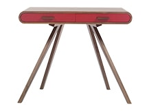 Fonteyn Desk, Walnut and Red