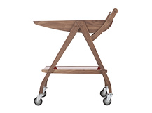 Fonteyn Drinks Trolley, Walnut and Red