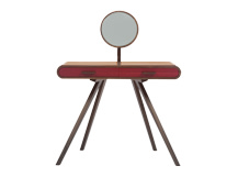 Fonteyn Dressing Table, Walnut and Red