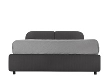 Hattan Double Bed With Storage, Falcon Grey