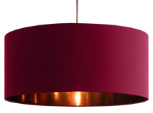 Hue Pendant Shade, Marsala and Copper