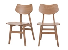 2 x Jacob Dining Chairs, Natural Ash