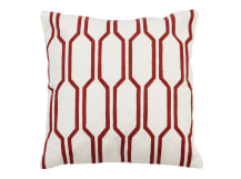 Kaden Cushion 45 x 45cm, Red and White