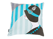 Meyer Square Scatter Cushion 45 x 45cm, Pacific Turquoise