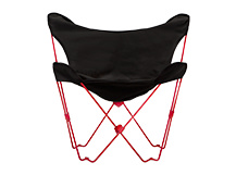 Monarch Outdoor Folding Chair, Black and Red