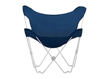Monarch Outdoor Folding Chair, Blue and White