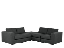 Mortimer Modular Corner Sofa Group, Shadow Grey