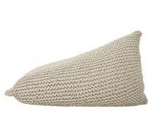 Purl Giant Knitted Beanbag, Chanterelle Beige