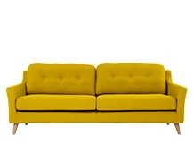 Rufus 3 Seater Sofa, Mustard Yellow