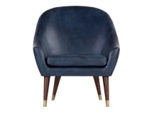 Seattle Armchair, Oxford Blue Premium Leather