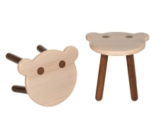 Troop Bear Stool, Pine