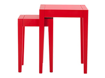 2 x Twain Nesting Tables, Red