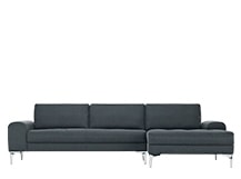 Vittorio Right Hand Facing Corner Sofa Group, Anthracite Grey