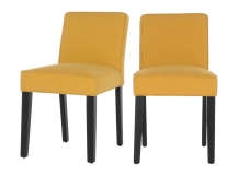 2 x Wilton Dining Chairs,Yolk Yellow and Birch Black
