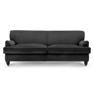Orson 3 Seater Sofa Smoke Velvet