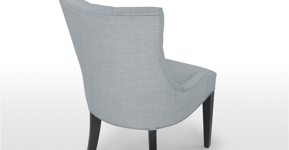 Flynn une chaise demi lune gris pers for Chaise demi lune