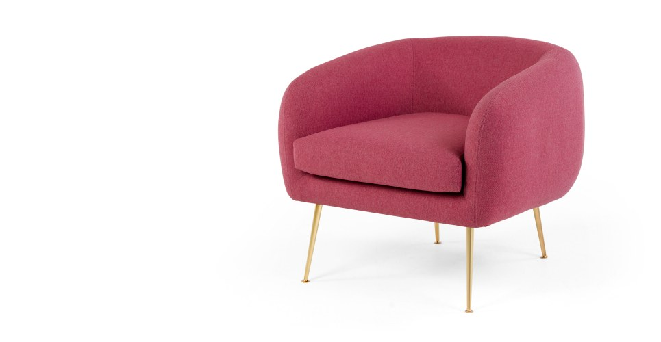 Dinky Accent Chair Scarlet Pink