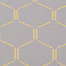 Hexagonal Weave Grey/Yellow