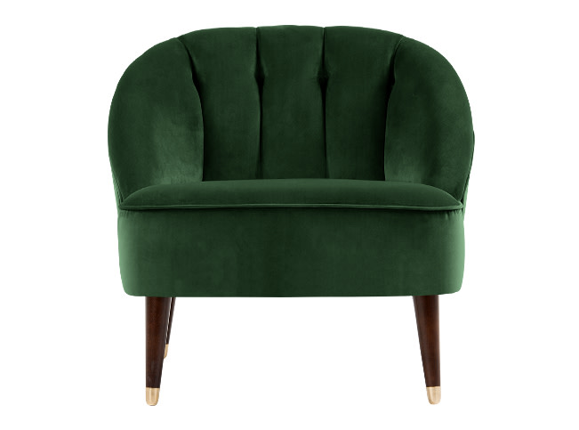 margot accent chair forrest green velvet. Black Bedroom Furniture Sets. Home Design Ideas