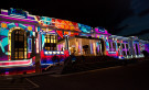 Old Parliament House during Enlighten. Image: Sean Davey