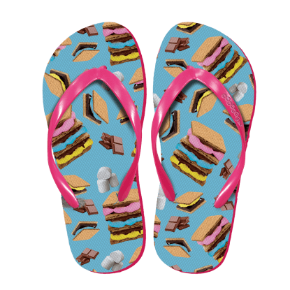Picture of Scattered S'mores Flip Flops