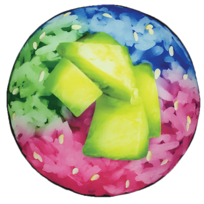 Picture of Rainbow Sushi Microbead Pillow