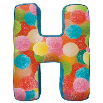 Picture of H Initial Microbead Pillow