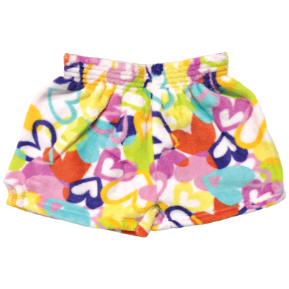 Picture of Colorful Hearts Plush Shorts