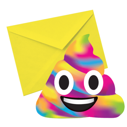 Picture of Rainbow Poop Emoji Scented Notecards