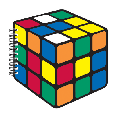 Picture of Rubik's® Cube Scented Notebook