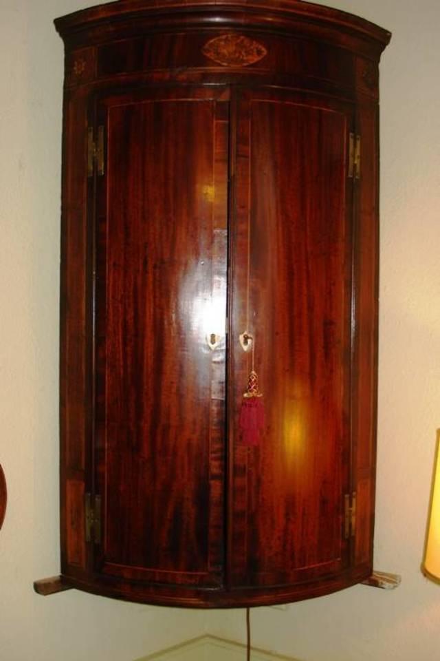 Sheraton period corner cupboard