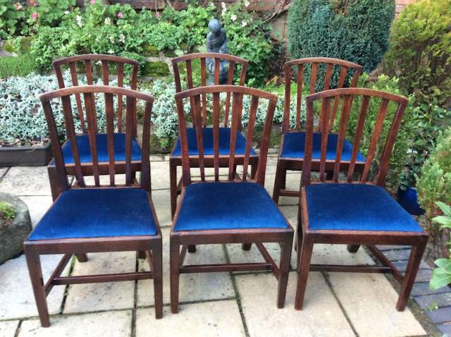 Set of 6 Georgian mahogany dining chairs