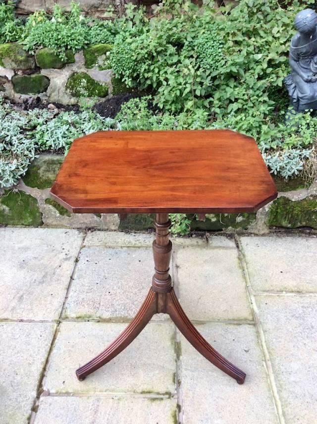 Regency mahogany wine table