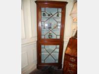 Glazed corner cupboard