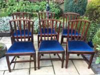 Set of 6 Georgian mahogany dining chairs