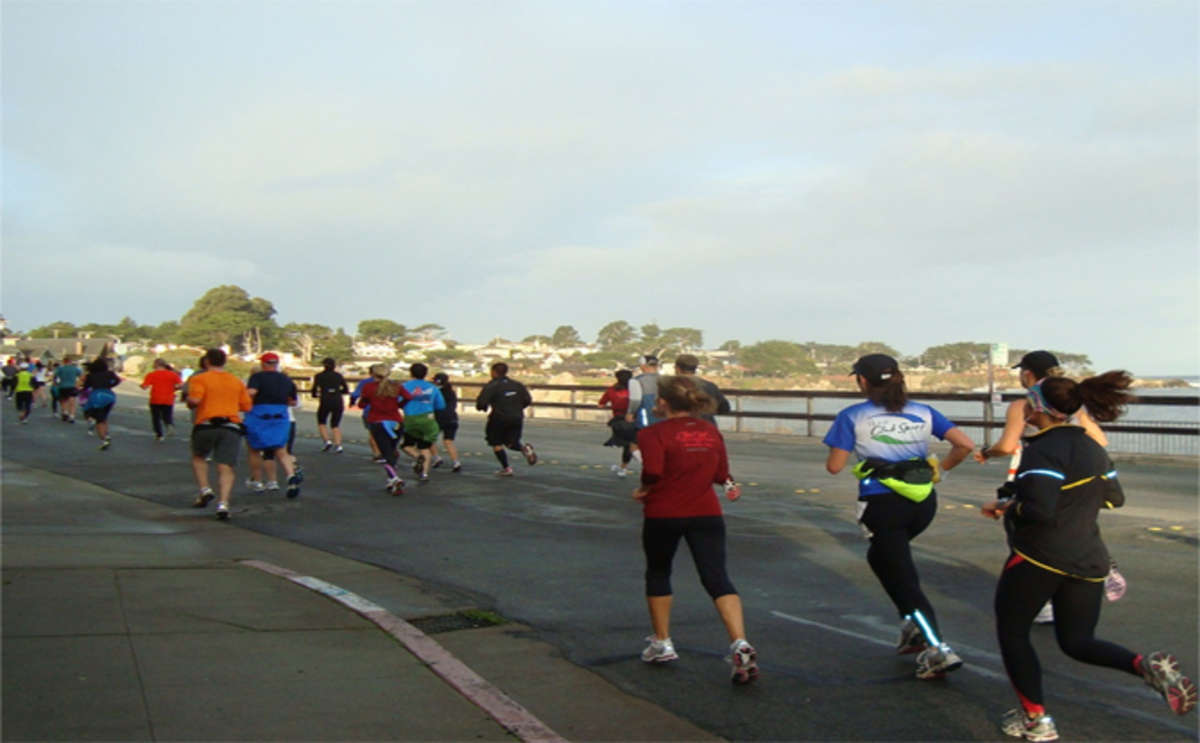 Runners along Monterey County's coastline