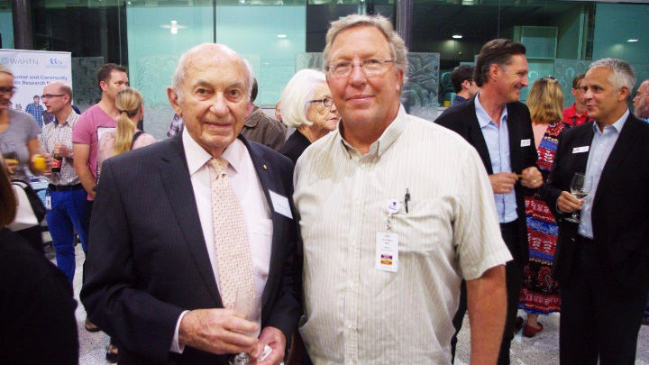 Stan Perron with Professor Stephen Stick.