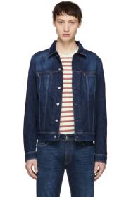 아크네 스튜디오 Acne Studios Blue Blå Konst Denim Dark Pass Jacket